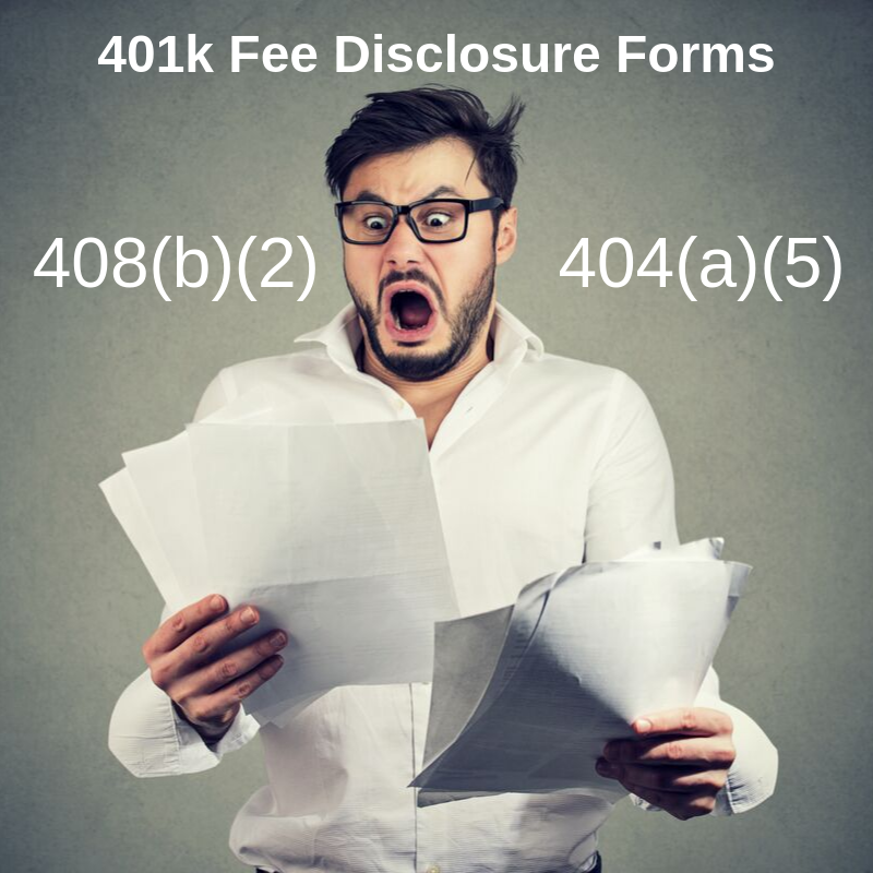401k Fee Disclosure Forms