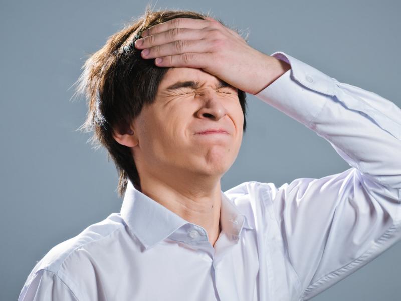 Emotional investor after making a mistake.