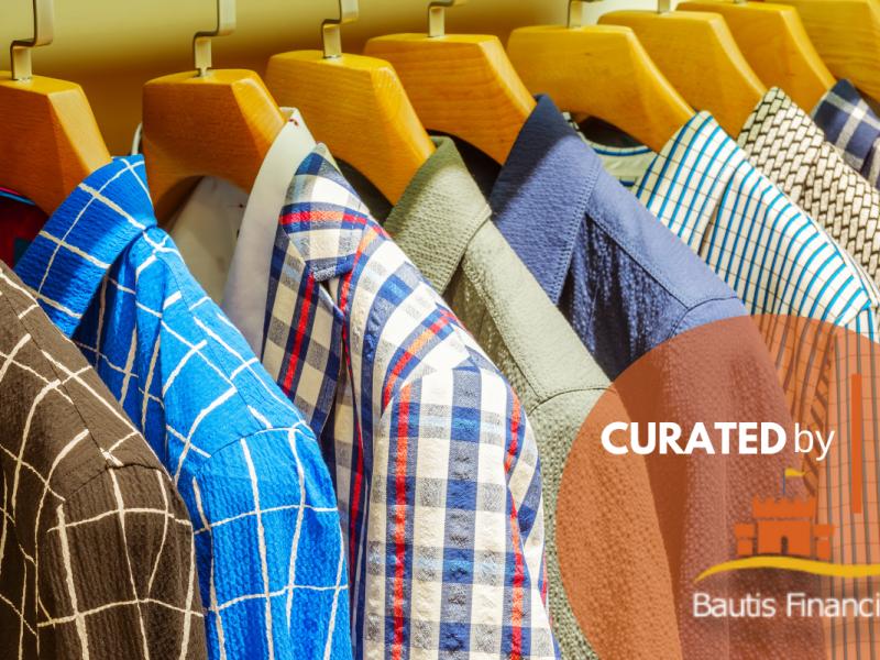 Men's Dress Shirts Hanging in a Closet